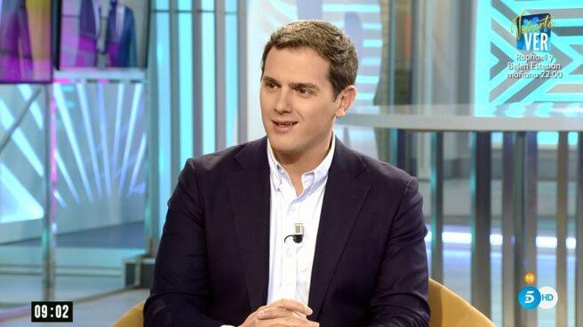 El líder de Ciudadanos, Albert Rivera, en una entrevista en El programa de Ana Rosa.