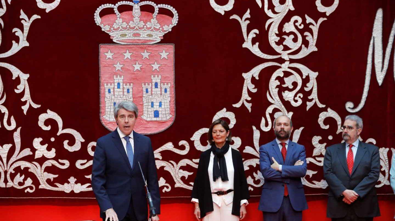 Ángel Garrido, durante el acto de toma de posesión como presidente de la Comunidad de Madrid.