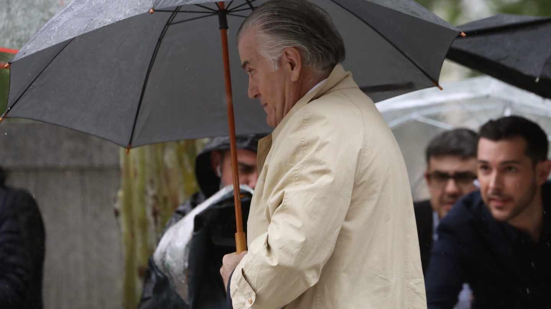 El ex tesorero del PP Luis Bárcenas, a su llegada a la Audiencia Nacional.