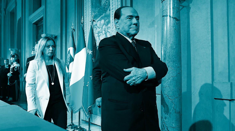 Silvio Berlusconi tras una reciente reunión con el presidente italiano, Sergio Mattarella