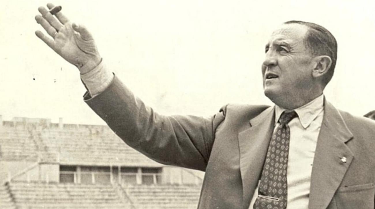 Santiago Bernabéu en su época como presidente del Real Madrid, en una foto de archivo.