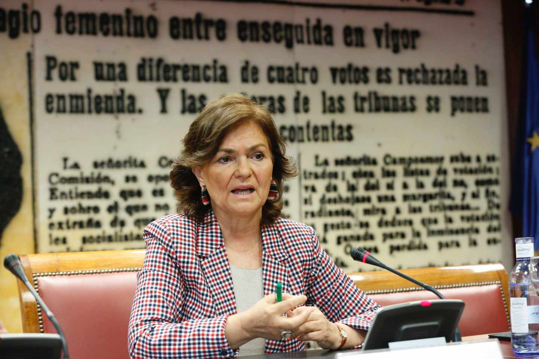 La secretaria de Igualdad del PSOE, Carmen Calvo.