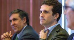 El vicesecretario del PP Pablo Casado, en un acto del partido.