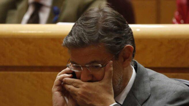 El ministro de Justicia Rafael Catalá, este martes en el Senado.