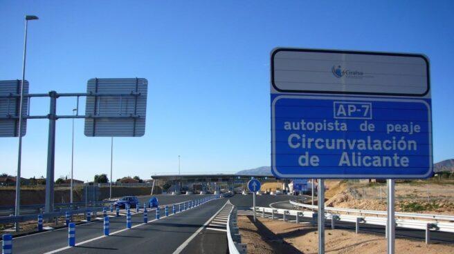 Circunvalación de Alicante, una de las nueve autovías de peaje que entraron en concurso en 2012.
