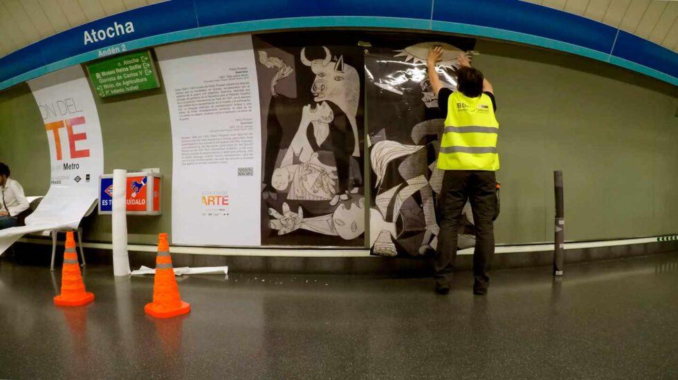 El Guernica en la Estación del Arte de Metro