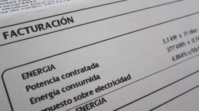 Una factura de electricidad.