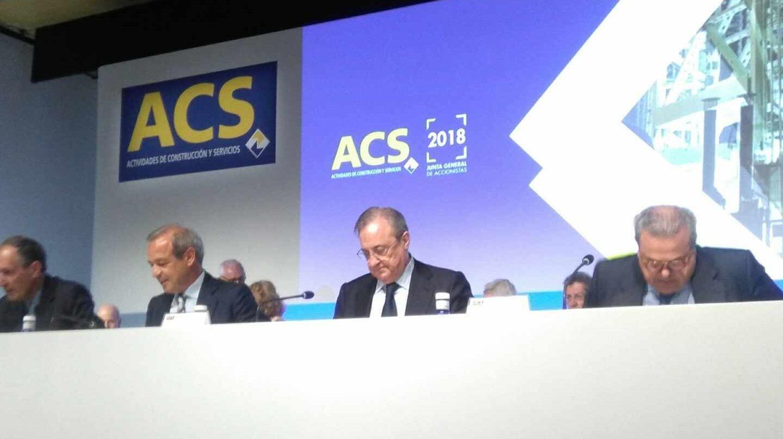El presidente de ACS, Florentino Pérez, en la junta de accionistas del grupo.