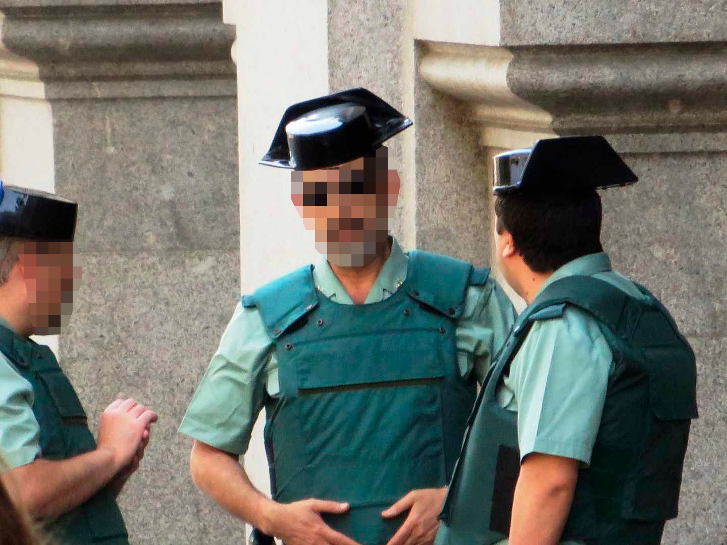 Miembros de la Guardia Civil en Madrid.