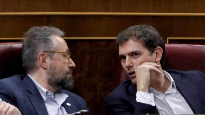 Juan Carlos Girauta y Albert Rivera, en el Congreso de los Diputados.