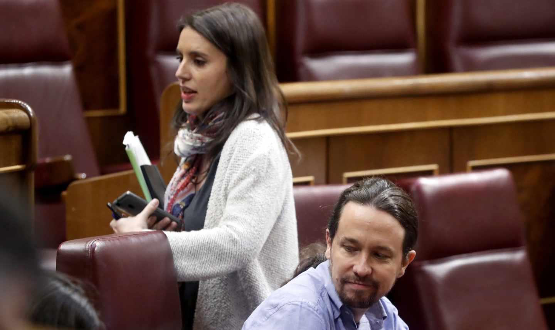 Irene Montero y Pablo Iglesias.