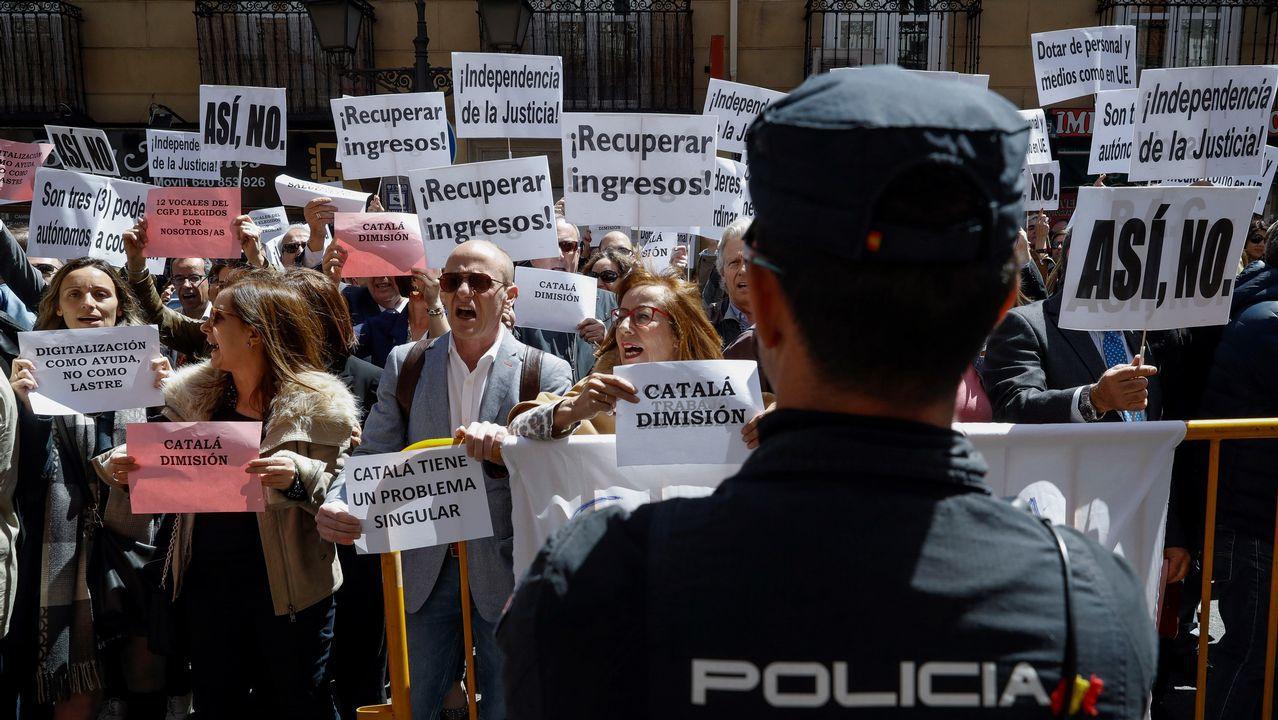 La primera huelga conjunta de jueces y fiscales en España tendrá lugar este martes