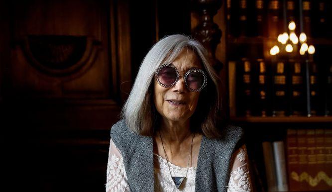 María Kodama durante la presentación de 'La biblioteca de Borges'.
