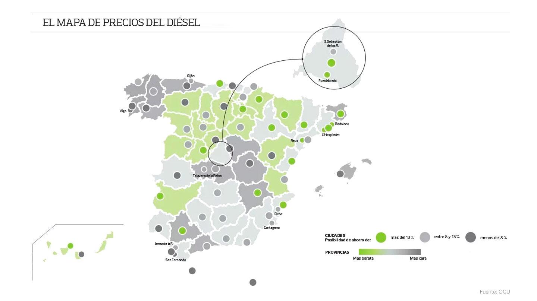 Precio del diésel en España