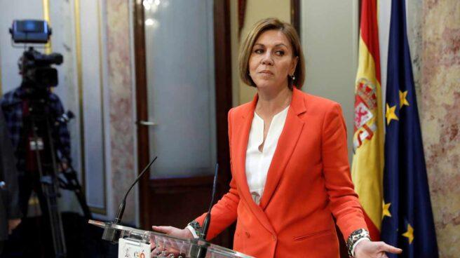 María Dolores de Cospedal, este jueves en el Congreso.