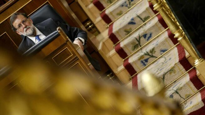 El presidente del Gobierno, Mariano Rajoy, en el Congreso que los Diputados.