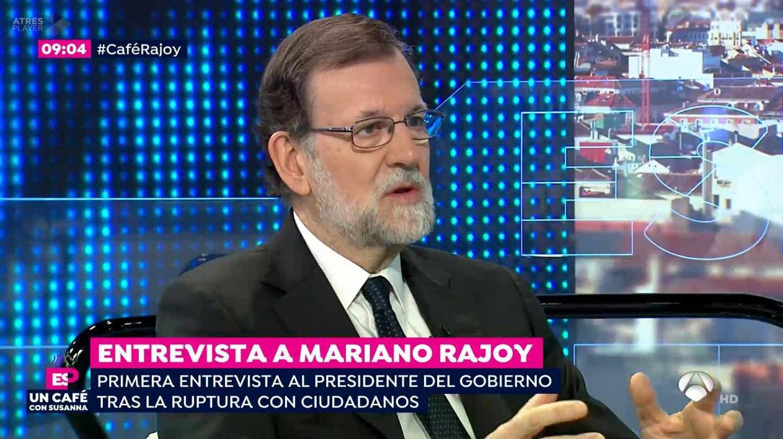 El presidente del Gobierno, Mariano Rajoy, en la entrevista en Espejo Público.