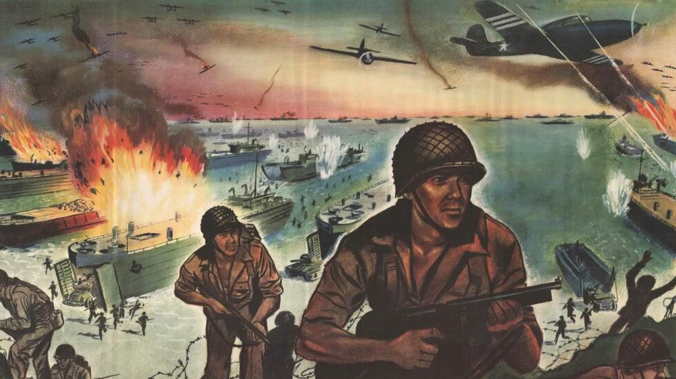 Detalle de un poster de guerra del Ejército de EE.UU.