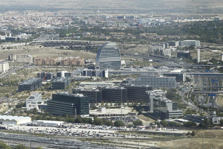 Una imagen panorámica del norte de Madrid.