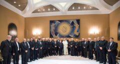 El Papa con los obispos chilenos.