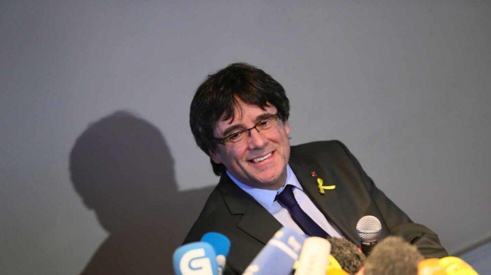 Carles Puigdemont en una rueda de prensa en Berlín el pasado abril.