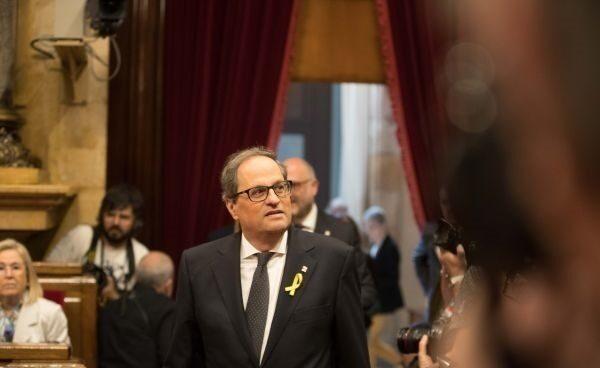 El nuevo presidente de la Generalitat Joaquim Torra.