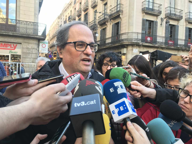 El ex presidente de Omnium Cultural y elegido candidato a la Generalitat por Puigdemont, Quim Torra.