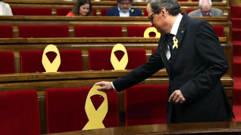 Quim Torra, en el Parlament.