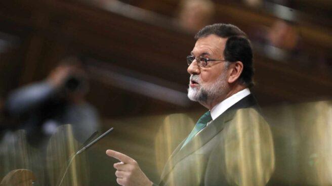 Mariano Rajoy, durante su intervención en la moción de censura.