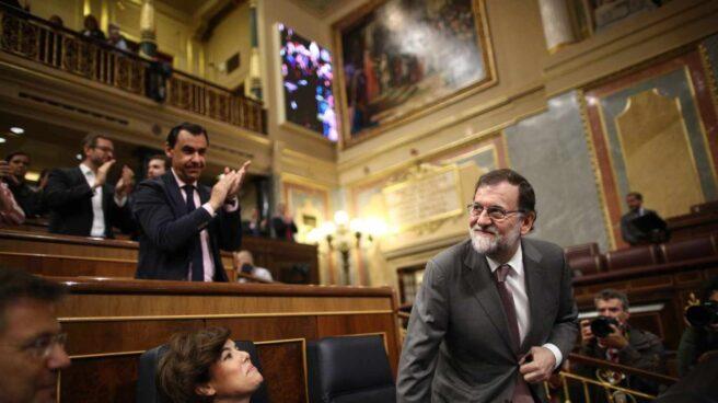 Mariano Rajoy y Soraya Sáenz de Santamaría en el Congreso de los Diputados.
