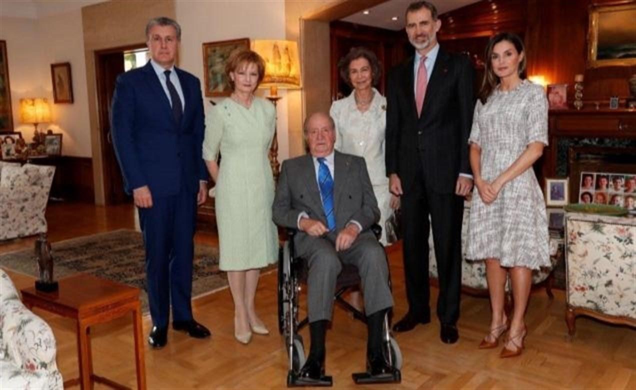 La Reina Sofía, el Rey Juan Carlos, el Rey Felipe y la Reina Letizia.