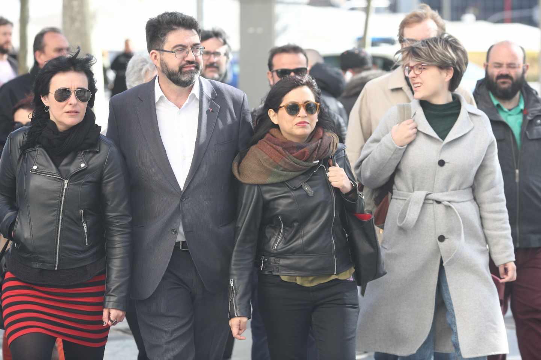 La edil de Ahora Madrid Rommy Arce llega a los juzgados de Madrid para declarar.