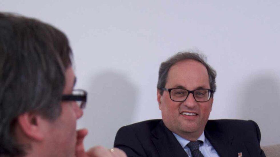 Quim Torra y Carles Puigdemont, este jueves en Berlín.