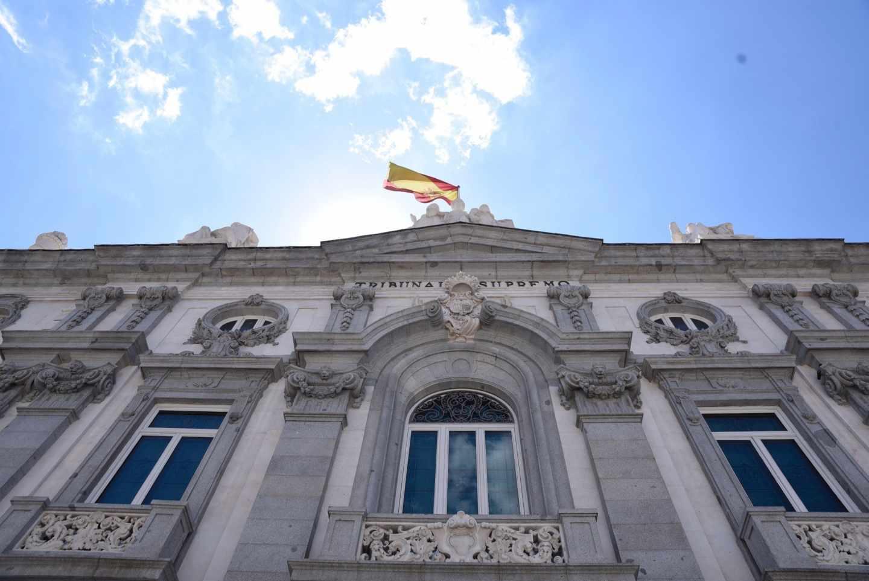 Vista de la fachada del Tribunal Supremo.