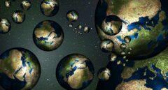 Recreación artísitica de multitierras en universos paralelos