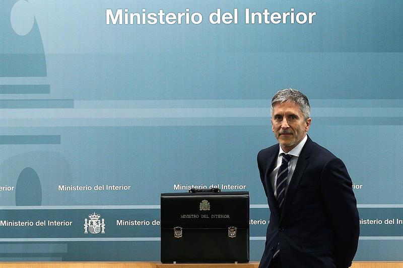 Fernando Grande-Marlaska, tras recibir la cartera de Interior este jueves.