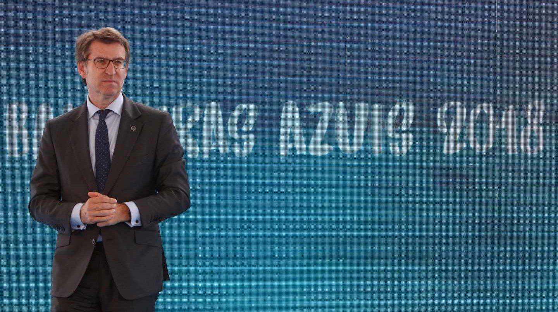 Alberto Núñez Feijóo, durante un acto institucional.