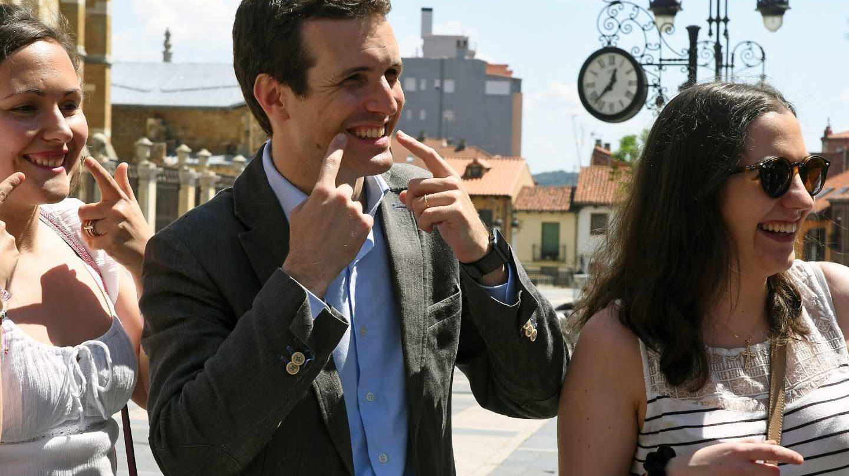 Pablo Casado este jueves de campaña en León