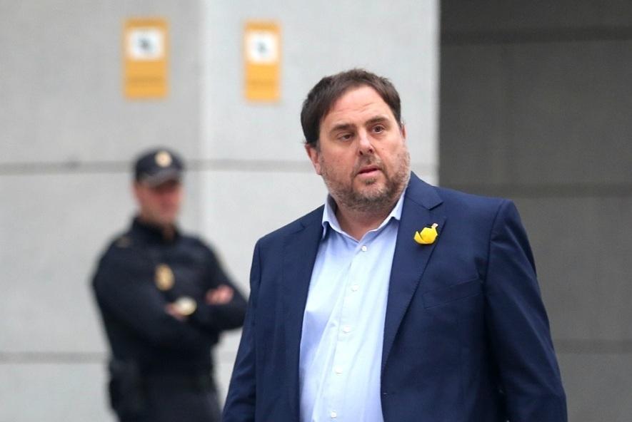 Oriol Junqueras, dirigiénseo a la Audiencia Nacional.