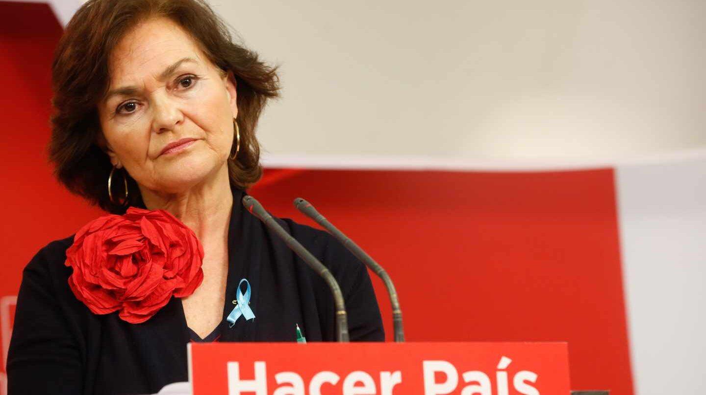 Carmen Calvo, vicepresidenta del Gobierno y ministra de Presidencia, Relaciones con las Cortes e Igualdad.