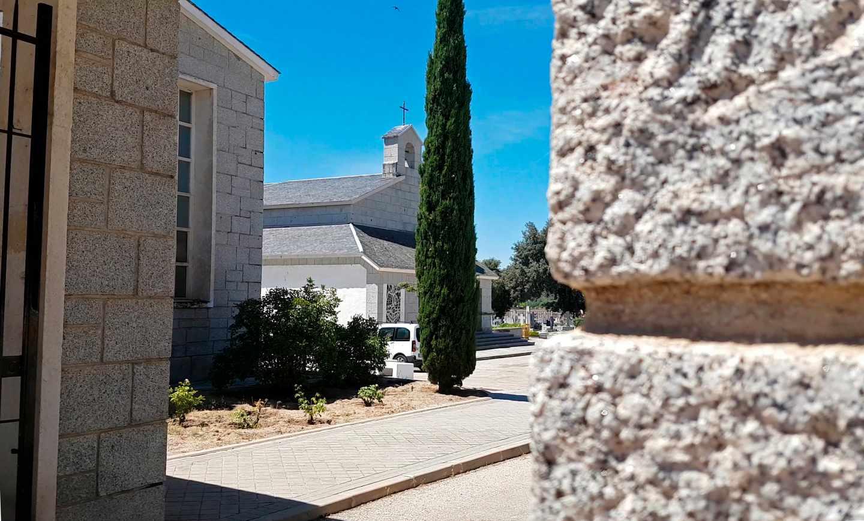 Entrada del Cementerio de Mingorrubio y el panteón de la familia Franco.