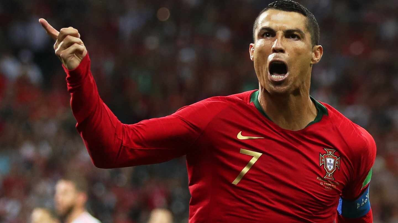Cristiano Ronaldo, en el partido contra España.