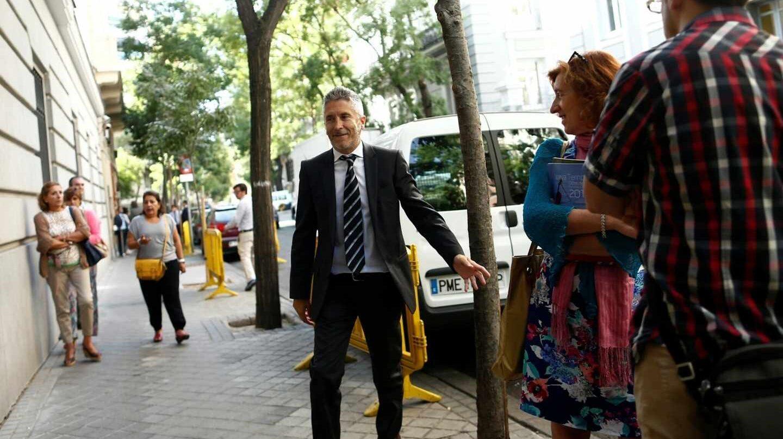 Fernando Grande-Marlaska, vocal del CGPJ y nuevo ministro del Interior, durante una entrevista en RNE.