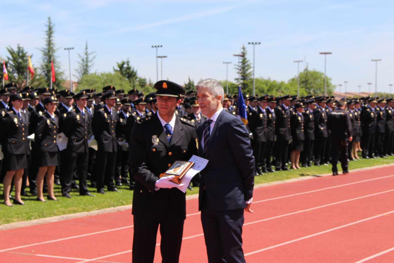 Fernando Grande-Marlaska, este jueves en Ávila en la jura de la última promoción de policías nacionales.