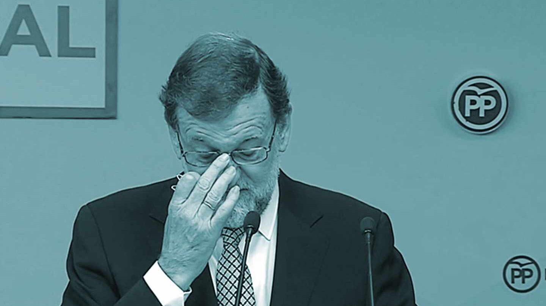"""Mariano Rajoy, durante su intervención en la reunión del Comité Nacional del partido que se celebra en Madrid. Rajoy ha anunciado hoy que dejará la Presidencia de la formación y cumplirá su mandato hasta el día que el partido elija a su sustituto: """"Es lo mejor para el PP, para mí y para España"""", ha dicho ante el Comité Ejecutivo Nacional."""