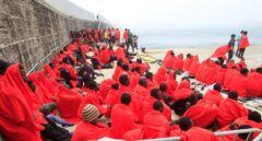 Supervivientes rescatados por Salvamento Marítimo en aguas del Estrecho de Gibraltar.