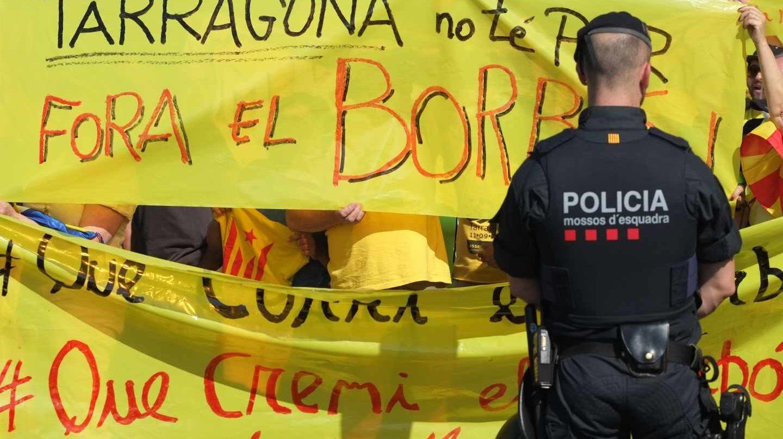Manifestación contra el Rey en Tarragona.