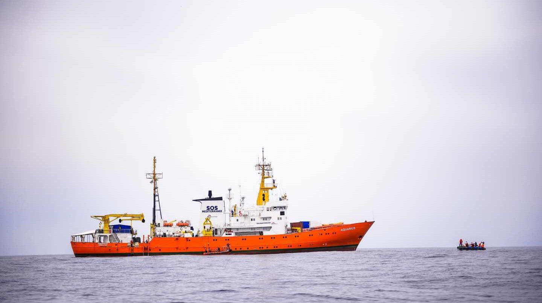 El barco Aquarius de la ONG francesa SOS Méditerranée.