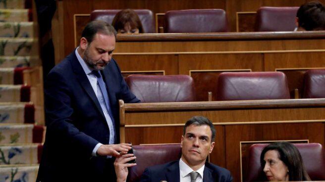 José Luis Ábalos, Pedro Sánchez y Margarita Robles.