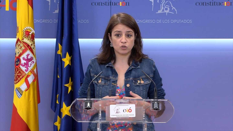 Adriana Lastra, portavoz del PSOE en el Congreso.